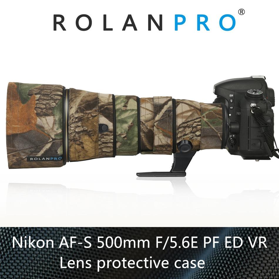 ROLANPRO Camera Lens Coat Camouflage For Nikon AF S 500mm F5 6E PF ED VR Lens