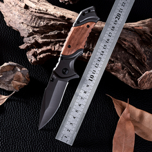 Utility Combat Camping Tactical Knives High Quality Outdoor Wood Handle Cold Steel D2 Survival Hunting Knife Facas Taticas X49