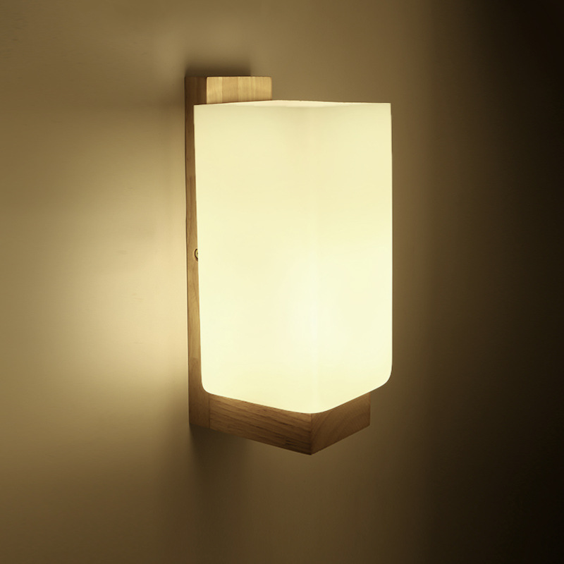 chinese style wall light bedroom wall lamp bedside lamps corridor lights solid glass - Wall Lamps For Bedroom