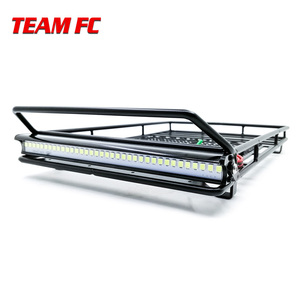 Image 3 - Metal Roof Rack Luggage Carrier with 36 LED Spotlight bar For 1/10 RC Car Trx4 RC4WD Cherokee Wrangler Axial Scx10 S38