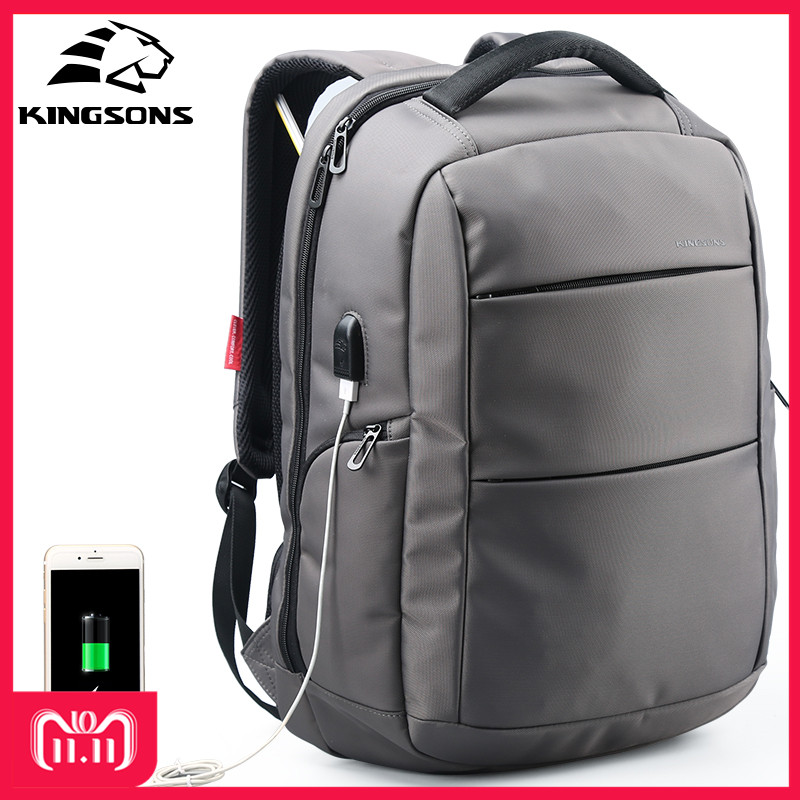 все цены на Kingsons KS3142W 15.6 inch Men Women Function Laptop Backpack With USB Cable Travel School Bags Business Leisure Backpacks