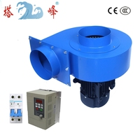 industrial 1100w 150mm pipe large CFM smoke dust extract centrfigual blower fan with AC inverter stepless regualting