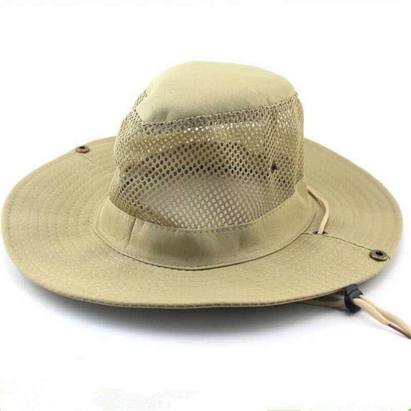 2017 new mesh breathable beach sun bucket hats for men for Womens fishing hat