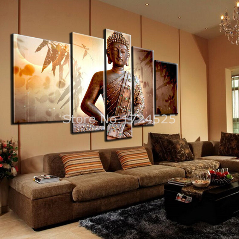 Aliexpress.com : Buy Hot Sell Handmade Buddha Religion Contemporary Art Canvas  Paintings Large Buddha Modern Oil Painting For Living Room Wall Decor From  ...