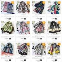Whole Sale 5pcs Lot Mixed Order 2017 New Acrylic Cotton Women Long Tassels Scarf Thin Woman
