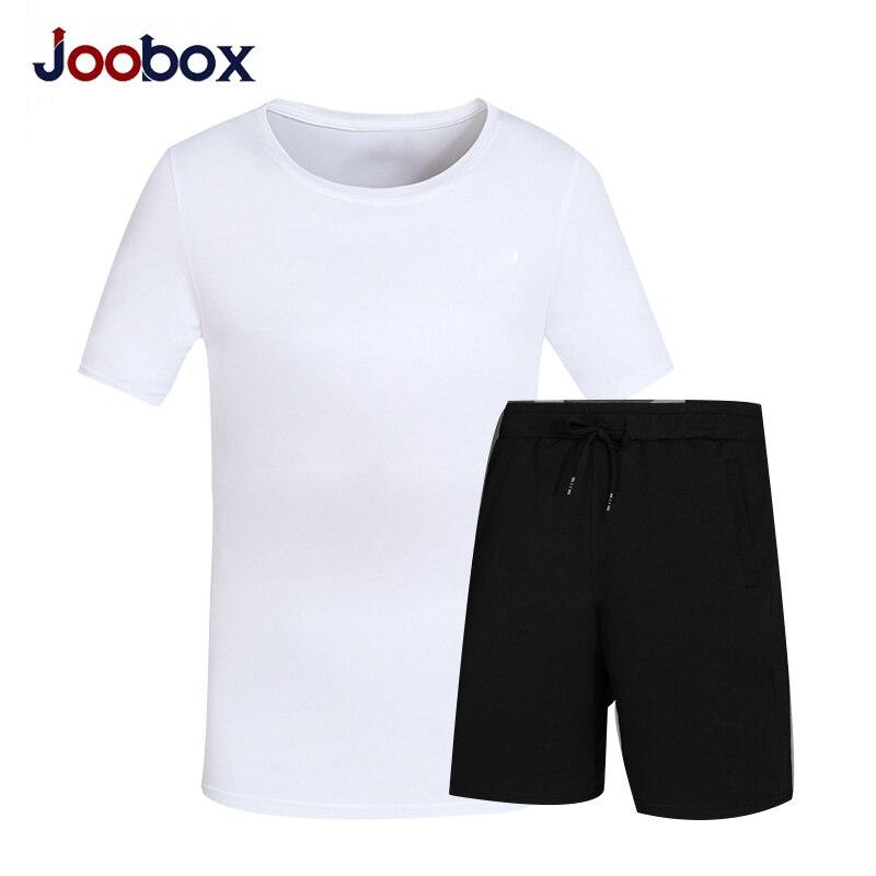 JOOBOX летний комплект повседневные комплект из двух предметов короткий рукав Футболка Для Мужчинs ...