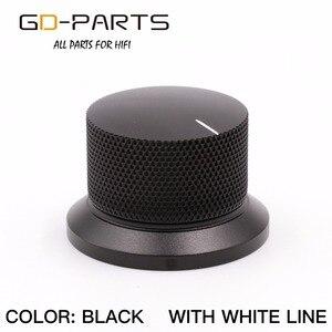 Image 3 - GD PARTS 38 × 25 ミリメートル機械加工アルミノブボリューム音用ハイファイオーディオアンプターンテーブルレコーダーラジオシルバー黒 1 PC