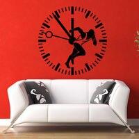 Wall Decal Runner Sport Time Vinyl Sticker Sprinter Clock Gym Bedroom Decor