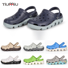 2018 Men Summer Sandals Slippers Fashion Beach Casual Flats Garden Hole Shoes Hollow Breathable Soft Clogs
