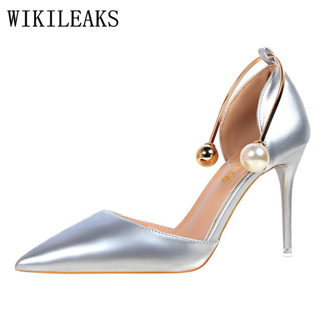 11adb0d423d8c9 high heels women sandals designer bigtree shoes Patent Leather Pearl luxury  brand wedding shoes sexy pumps valentine shoes woman