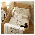 Infantil 100% algodão pedaço bedding set kit berço 100% algodão baby bedding set piece