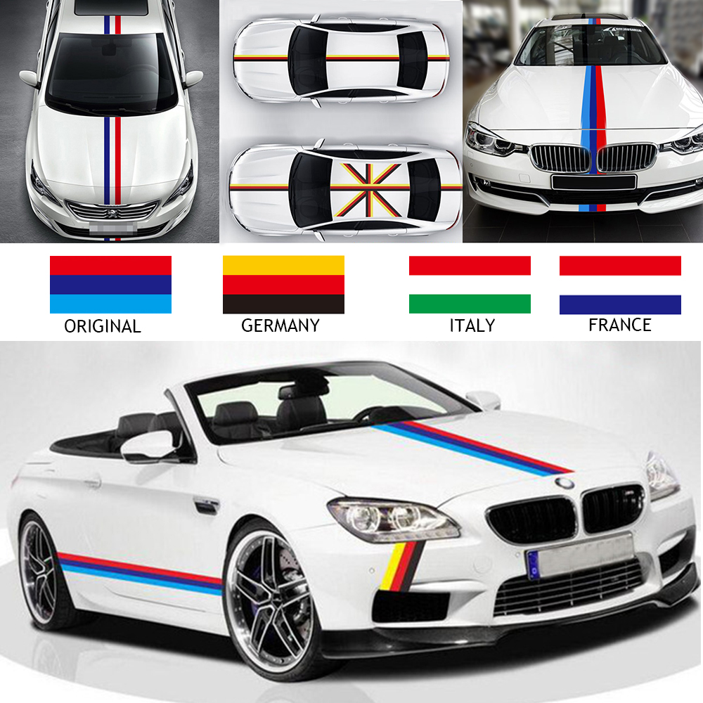 2016 new style car styling stickers 1 m german france italy flag car stickers vinyl decal
