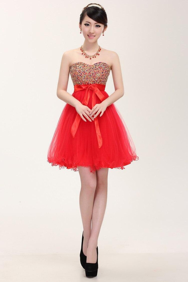 Elegant Red Cocktail Dress | Dress images