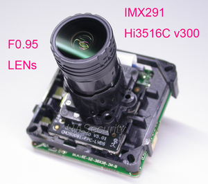 "Image 1 - F0.95 عدسة ذكي analisys H.265 1/2. 8 ""STARVIS IMX291 CMOS + Hi3516C V300 IP كاميرا تلفزيونات الدوائر المغلقة PCB لوحة تركيبية + كابل شبكة محلية"