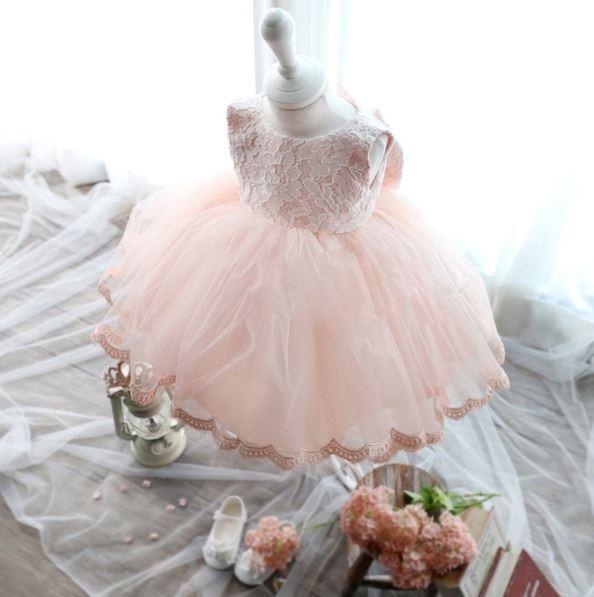 Elegant-Girl-Dress-Girls-2017-Summer-Fashion-Pink-Lace-Big-Bow-Party-Tulle-Flower-Princess-Wedding-Dresses-Baby-Girl-dress-2