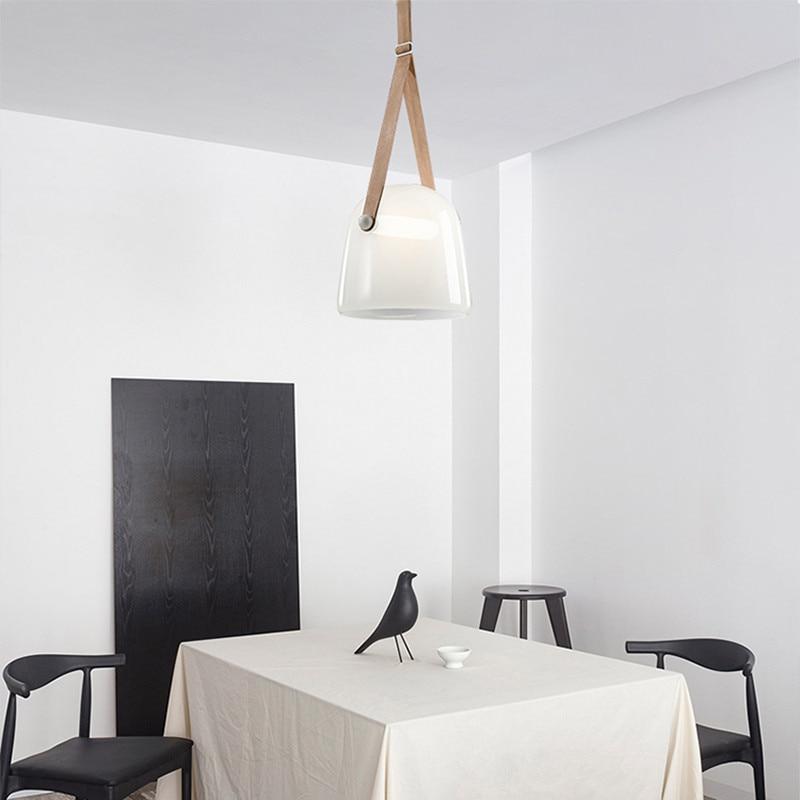 Image 5 - Post modern Glass Pendant Lights Mona Led Belt Hanging Lamp Living Room Kitchen Light Fixtures Home Decor Suspension Luminaire-in Pendant Lights from Lights & Lighting