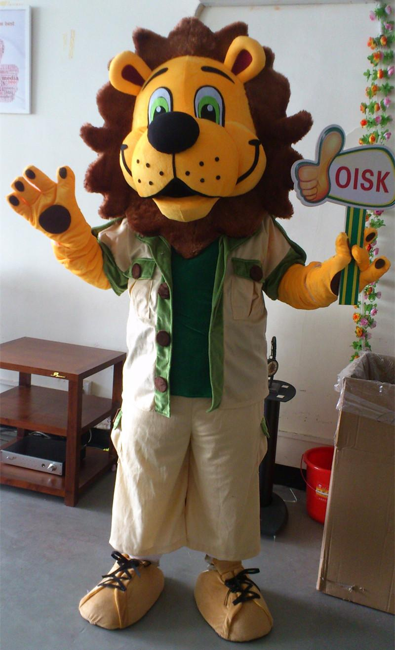 0140b57e6 ohlees Real Pictures Custom Made Roarie Lion Mascot Costume Character Adult  Size animal Cartoon Halloween costumes for party