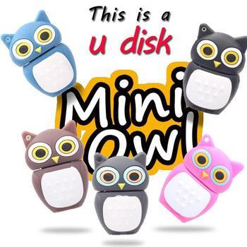 Сова Стиль USB Flash Drive 32 ГБ Pen drive 16 ГБ Милый Мультфильм Флешки 8 ГБ 4 ГБ USB Stick Memoria USB
