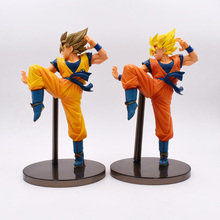 2 Styles Anime Dragon Ball Z Super Saiyan Son Goku PVC Action Figure Doll Model Toy Halloween Christmas Gift For Children