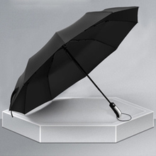Women Male Umbrella Full automatic oversize reinforced umbrella Three fold Automatic Folding Wind Resistant
