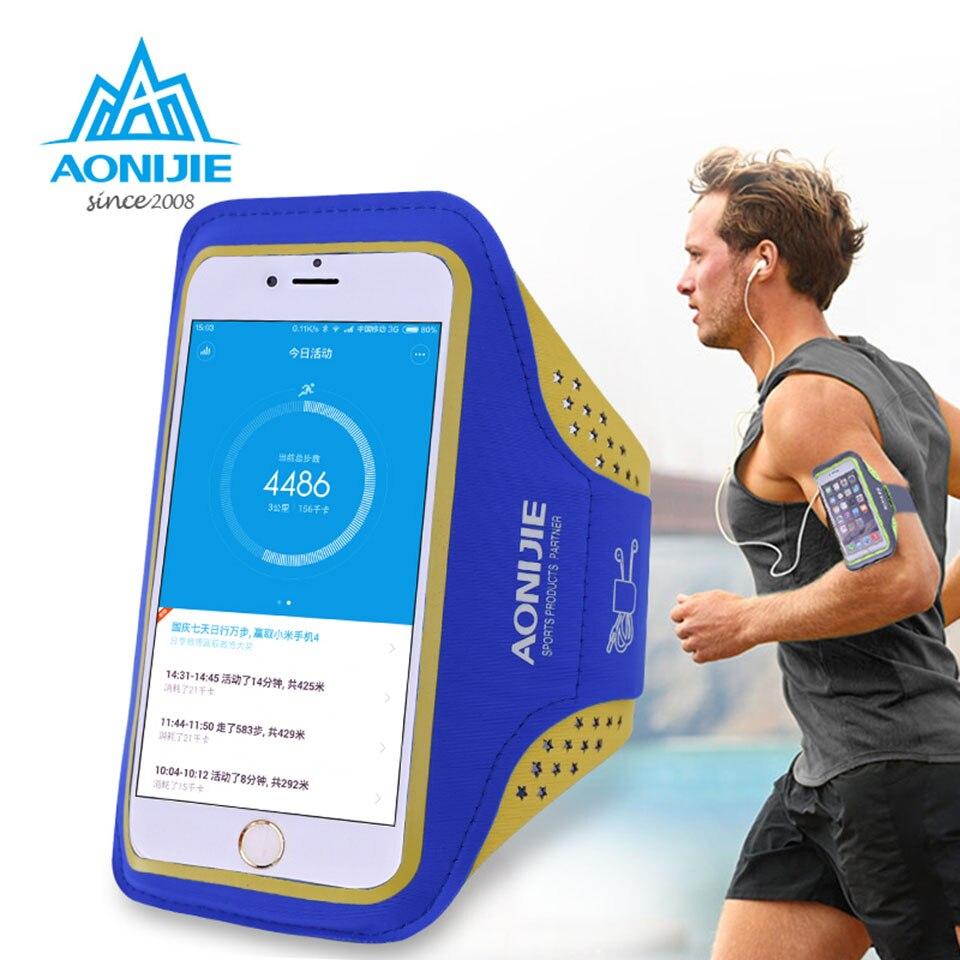 AONIJIE Outdoor Ultra Light Sport Running Bag Мөлдір телефон корпусының велосипед сөмкесі үшін 4.7 «/5.5» телефоны