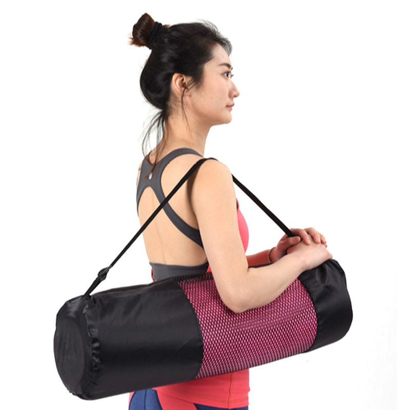 Able 60*20cm Nylon Strap Exercise Gym Fitness Pilates Yoga Mat Carring Bag Carrier Backpack Carriers Bag Portable Black Network Gym Ropa, Calzado Y Complementos