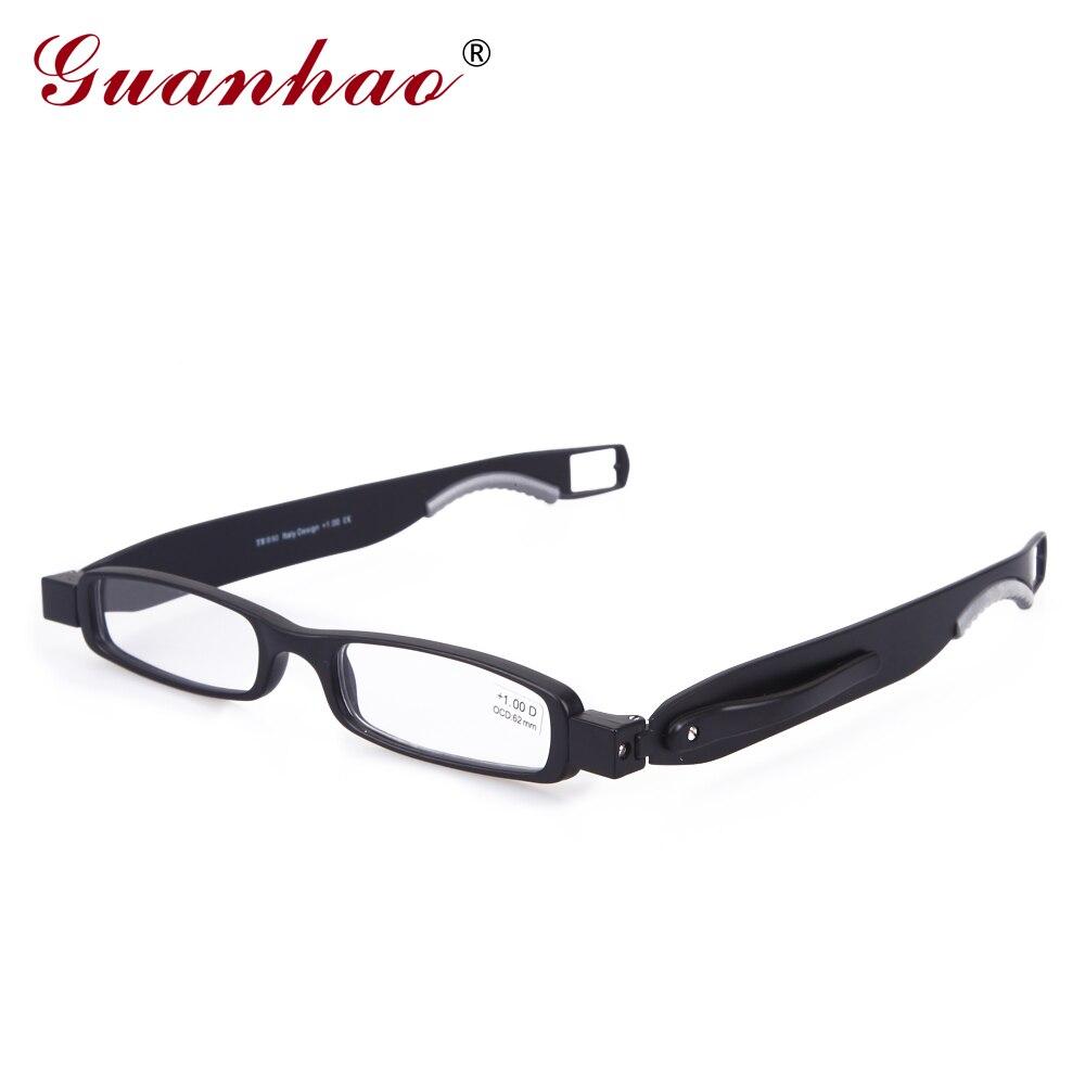 11db7129818bd Guanhao Marca Designer Girar 360 Graus Quadro TR90 Dobrável Óculos de  Leitura Das Mulheres Dos Homens Retro Óculos De Leitura 1.0 1.5 2.0 2.5