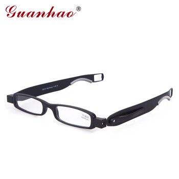 5fa0cb158c Guanhao marca diseñador plegable gafas de lectura rotar 360 grados TR90  marco hombres mujeres Retro gafas de lectura 1,0, 1,5, 2,0, 2,5
