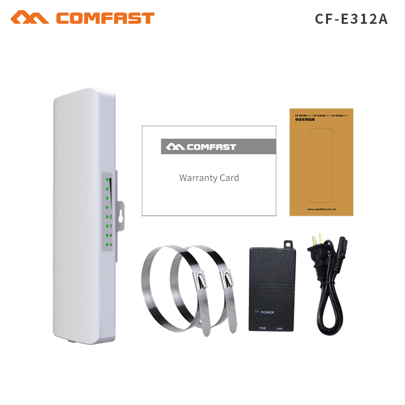 COMFAST 2km Long Range 5.8Ghz 300Mbps Wireless Outdoor CPE wifi Bridge High Power Wireless Router 2*14dBi Antenna wifi repeater 2pc 300mbps 2 4ghz outdoor high power wireless bridge cpe repeater for point to point 2 14dbi antenna wifi transmission receiver