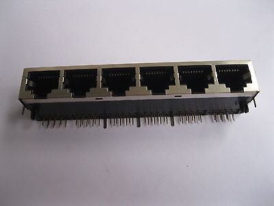 20 pcs RJ45 Network PCB Jack 59 8P 6 Ports LAN Connector 24 pcs rj45 modular network pcb jack 56 8p w led 4 ports