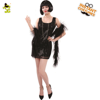 Adult Sexy Glittering Flapper Costumes Women Carnival Party Pretty Stunning Girl Set Women's Fancy Dance Queen Dress for Party