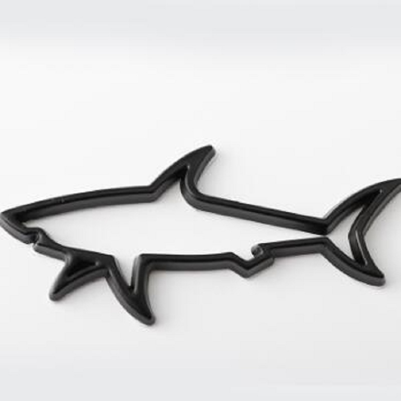 3D car stickers personalized shark metal logo car styling stickers car start emblem badge chrome car decoration decal in Car Stickers from Automobiles Motorcycles