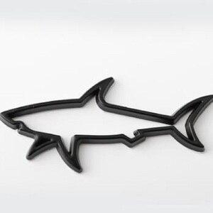 Image 4 - Autocollant de décoration de voiture en métal 3D, décalque demblème de poisson creux de requin, accessoires pour coffre, pour Automobiles, ordinateur, capuchon de carburant, pour moto