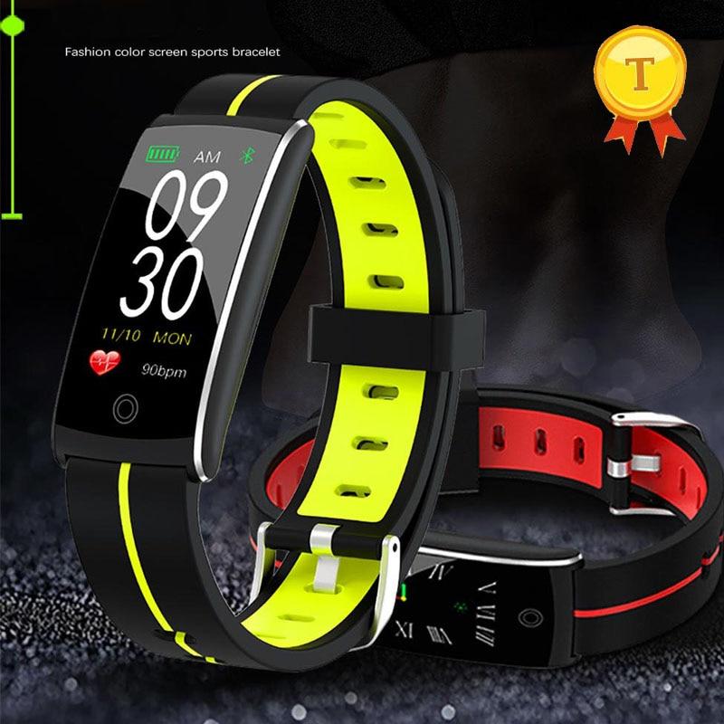 Ip68 กันน้ำการตรวจสอบการนอนหลับ Fitness Tracker Heart Rate สร้อยข้อมือสมาร์ทความดันโลหิตนาฬิกาข้อมือหน้าจอสีสันกีฬา-ใน สายรัดข้อมืออัจฉริยะ จาก อุปกรณ์อิเล็กทรอนิกส์ บน AliExpress - 11.11_สิบเอ็ด สิบเอ็ดวันคนโสด 1