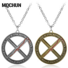 Fashion Hot Film X-Man Silver/Golden Zinc Alloy Metal Pendant Vintage X-Men Movies Fans X Logo Superman Pendant Necklace-30(China)