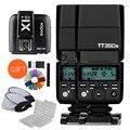 2x godox mini tt350s cámara flash speedlite ttl hss gn36 + x1t-s transmisor para sony dslr cámara sin espejo a6000 a7 a6500