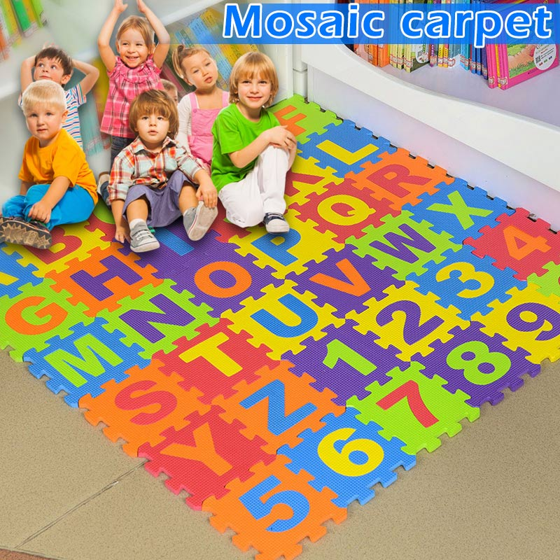 36pcs Baby Floor Foam Puzzle Mat Crawling Play Pad Carpet YH-17