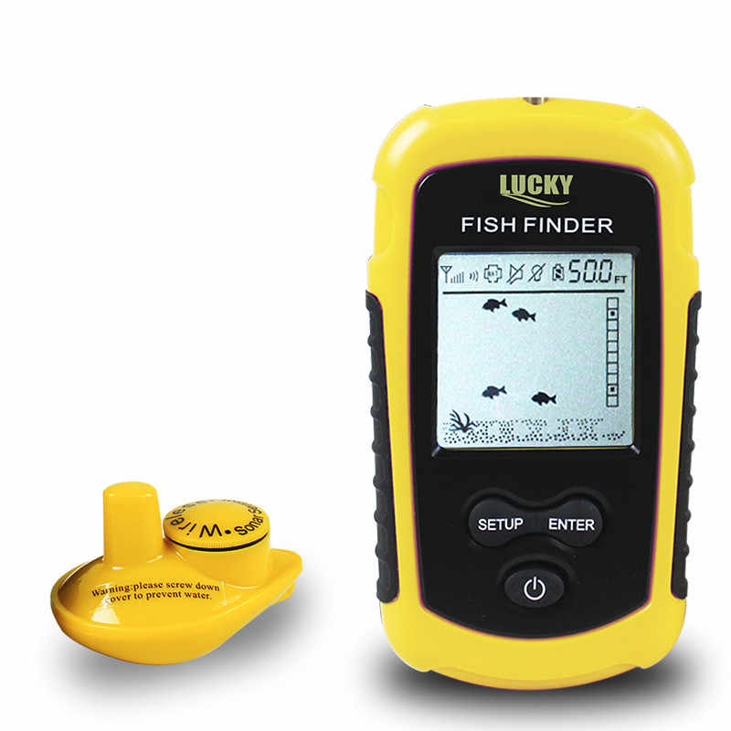 FFW1108-1 Portable Wireless Fish Finder Echo-Sounder Fishing Depth Sounder ,ice fishing finder Wireless Fishing Tackle Finder