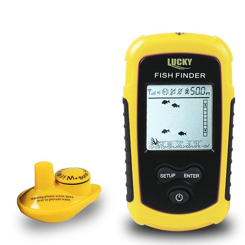Sondeur de profondeur de pêche échosondeur sans fil Portable de FFW1108-1, sondeur de pêche sur glace détecteur de pêche sans fil