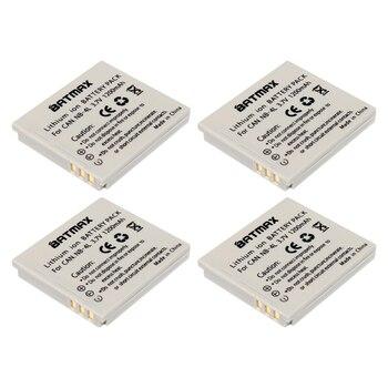 4 Uds 1200mAh NB-4L NB 4L batería para Canon IXUS 50 55 60 65 80 75 100 I20 110, 115, 120, 130 es 117, 220, 225, 230, 255 HS SD780 SD960