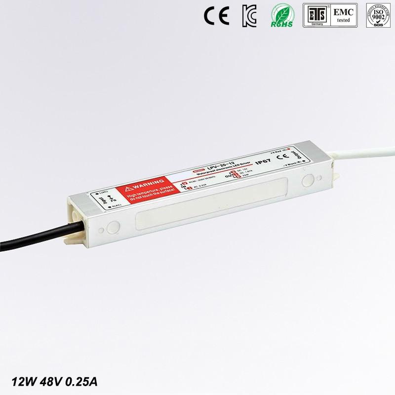 (LPV-20-48) 100~250VAC to 48vDC Power transformer waterproof IP67 dc 48v 20w led power supply waterproof power supplies meanwell 24v 35w ul certificated lpv series ip67 waterproof power supply 90 264v ac to 24v dc