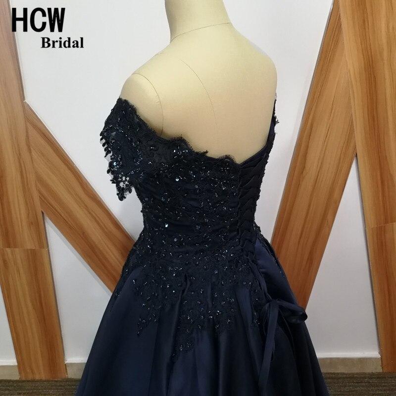 Navy sinine õhtukleit beaditud pitsiga satiin joonega pikk ametlik - Eriürituste kleidid - Foto 6