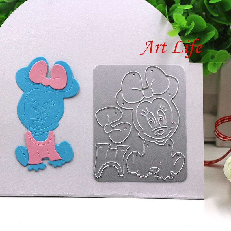 2017 Minnie Mouse Metal Cutting Dies Stencils For Diy Scrapbooking