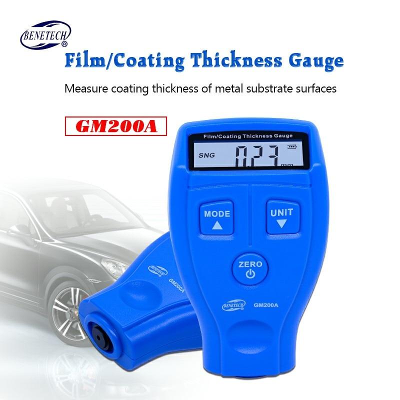 все цены на BENETECH digital coating thickness gauge 0-1.8mm/0-71.0mil GM200A Car Painting Paint Thickness Meter Car Diagnostic Tool онлайн