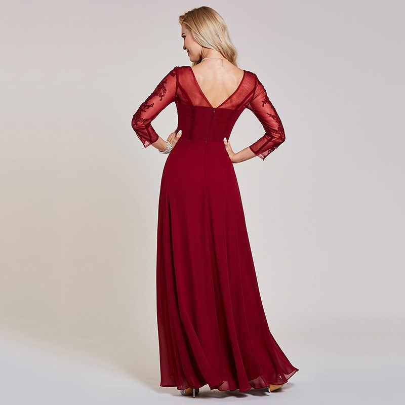 46f89717e8f ... Платье бордовое недорогое вечернее платье с овальным вырезом  трапециевидной формы