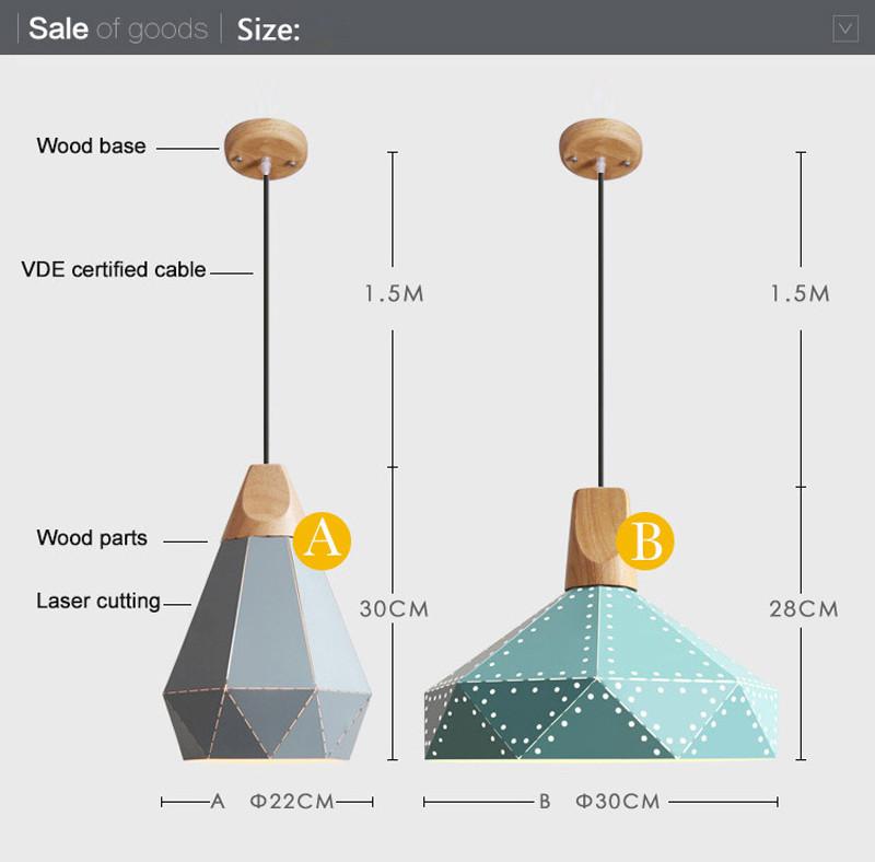 Nordic Loft Industrail Laser Cutting Home Pendant Lamps Lighting Modern Scandinavian Design Wood Hanging Light For Living Room1