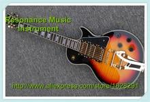 Custom Shop LP E-gitarre 3 Pickups Gold Bigspy Tremolo Vintage Sunburst