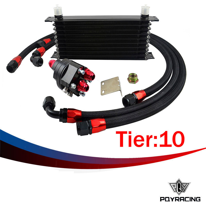 Здесь можно купить   PQY RACING- Universal 10 offer 10AN Aluminum Engine Transmission Oil Cooler Relocation Kit Автомобили и Мотоциклы