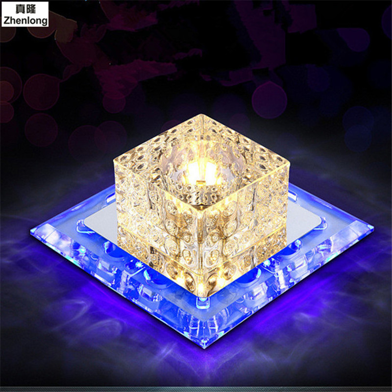 Modern Led Ceiling Light Fixture Crystal Crystal Led Aisle Corridor Entrance Hallway Lights Square 5730 Smd Ceiling Lamps Home
