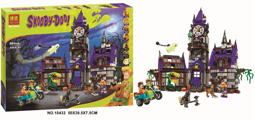 Image 5 - IN STOCK 10432 Scooby Doo Mysterious Ghost House 860pcs Building Block Toys Compatible 75904 Blocks For Children gift-in Blocks from Toys & Hobbies